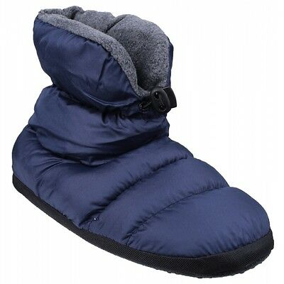 Cotswold CAMPING Kids Comfort Cosy Warm Faux Fur Camping Boot Slippers Navy