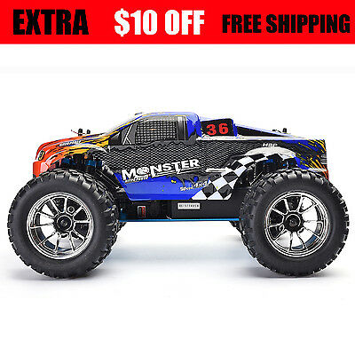 HSP High Speed Radio Rc Car 1/10 Scale Nitro Power Off Road Monster Truck 4wd