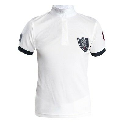 High quality Competition shirt for kids short sleeved white