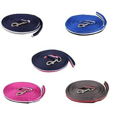 Soft tri-color Nylon Longe 8 m with snap hook Floor work Choice of colours