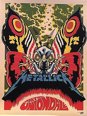 Metallica 2017 Uniondale New York Limited Lithograph Tour Poster 214/400 Master