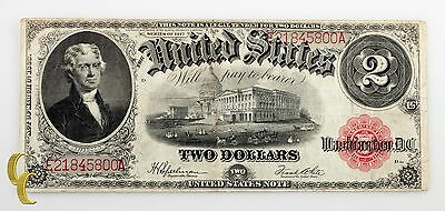 Series of 1917 $2 US Note Large Size Legal Tender Speelman/White (F Condition)
