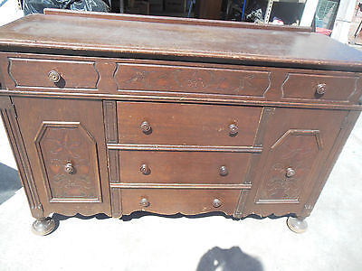 Antique Mahogany Buffet/Sideboard w/four drawers & two doors
