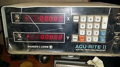 Acu-Rite II Bausch & Lomb 2 Axis Digital Read-Out Console