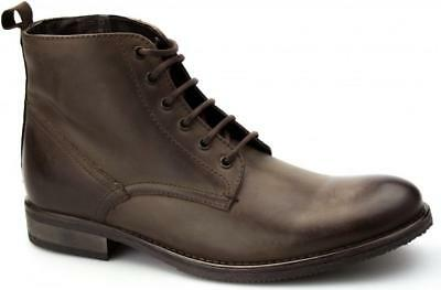 81097983e1ed Ikon STILLER Mens Leather Derby Lace Up Ankle Casual Smart Fashion Boots  Brown