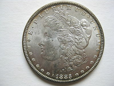 1885-P  Morgan Silver Dollar   U