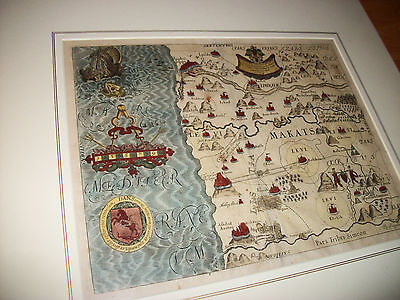 "ANTIQUE 1650 MAP from Thomas Fuller's ""A Pisgah Sight of Palestine"""