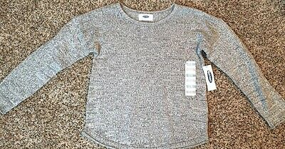 NWT Old Navy Girl's Sweater, Marled Gray, Size XS(5)
