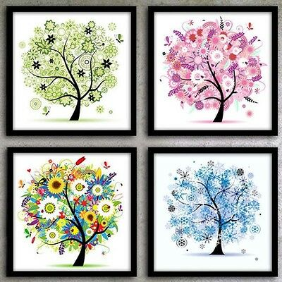 4 Season's Tree DIY 5D diamond painting cross stitch by numbers UK Seller 30*30