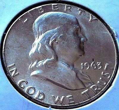 1963-P Franklin Silver Half Dollar * Gem * Ch/bu+ Uncirculated Coin Solid Ms+