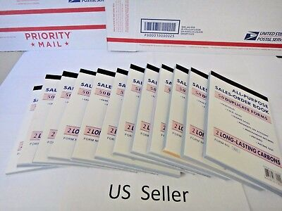 12X-2 Part Carbonless Order Books sales Receipt 50 sets Invoice FREE SHIPPING