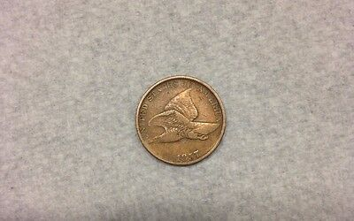 1857 Flying Eagle Cent - Nice Coin-Good Details