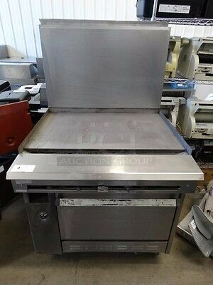 "Garland Gas Range with 36"" Griddle flat top and Base Oven"