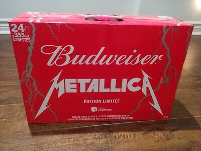 budweiser metallica limited edition 24 cans (super rare)