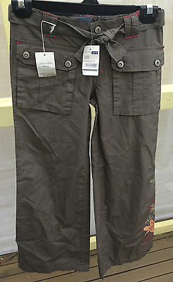 Pumpkin Patch Girls Full Length Cargo Pants With Embroidery Size 10 ! (113)