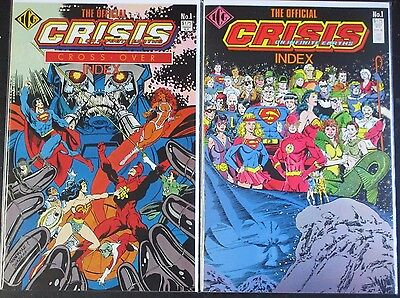 Official Crisis On Infinite Earths Index #1 +Crisis Cross-Over Index #1 Dc 1986