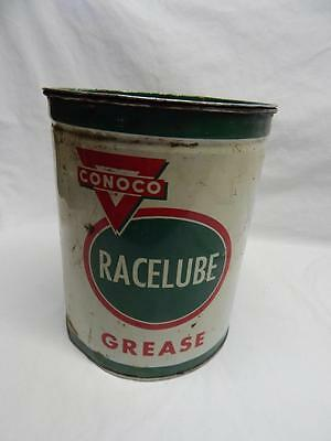 Vintage CONOCO Race Lube Grease Tin 7 pounds GREASE INCLUDED! Collectible