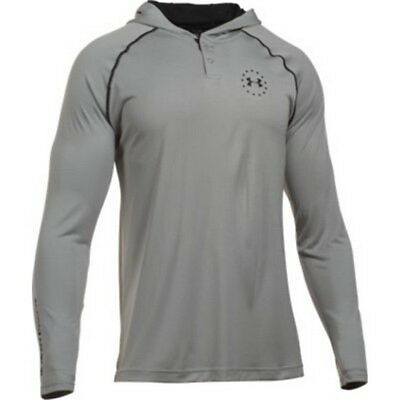 Under Armour 1286069 Men's Heather Gray Freedom Tech Hoodie - Size Small