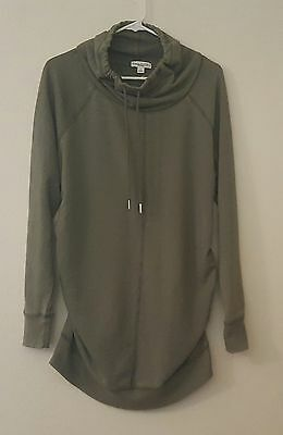 Nwt Liz Lange Maternity Sz L Cowl Neck Tunic Top Stretchy Sweatshirt Sweater