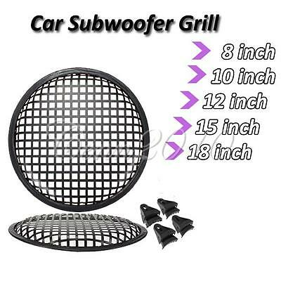 Car Audio Speaker SubWoofer Grill Grille Cover Guard Protector 8/10/12/15/18""