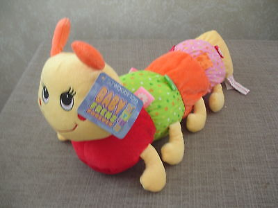 Caterpillar with Taggies Plush Toy Rattle with Baby Girl Colors