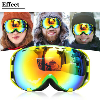 Professional Skiing Snowboard Ski Goggles Anti Fog UV Double-Lens Outdoor Sports