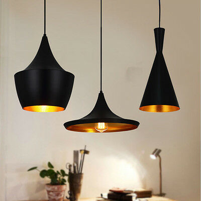 Black Beat Style Ceiling Pendant Light Lamp Shade Lampshade Chandelier Home DIY