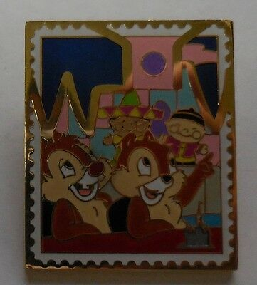 Disney Pin Trading Stamp Collection Castle Chip & Dale Pin