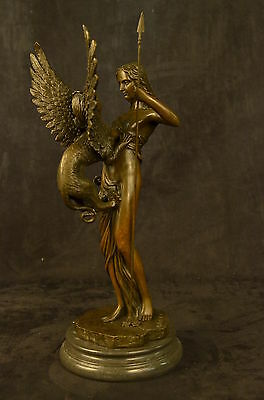 Bronze Sculpture Signed Original Odegaard Nude Naked Laying Female Figurine Scul