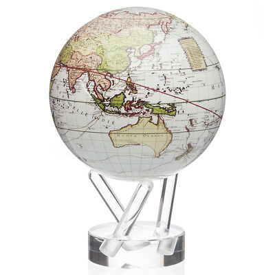 NEW Mova Small Cassini Terrestrial Spinning Globe White