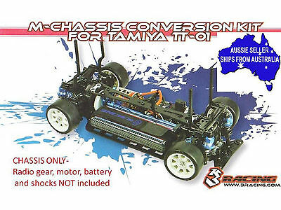 M chassis conversion kit with free tyres for Tamiya brand TT01 &TT01E, D 1:10 RC