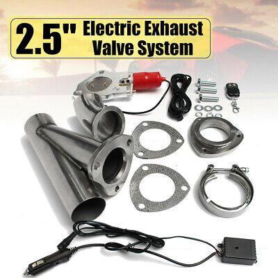 """2.5"""" Electric Exhaust Valve Catback Downpipe System Kit Remote Intelligent E-Cut"""