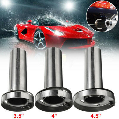 """3.5/4/4.5"""" Car Exhaust Can Muffler Insert Baffle Removable Silencer Stainless"""