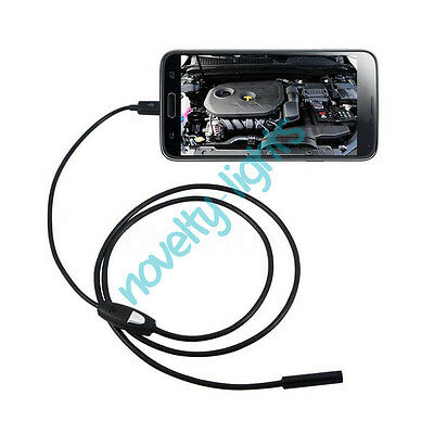 Snake Mobile Phone Micro USB Android Endoscope Borescope Inspection Camera 6LEDs