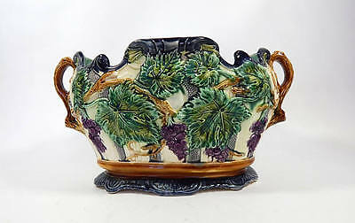 Antique French Majolica Jardiniere Exceptionally Large