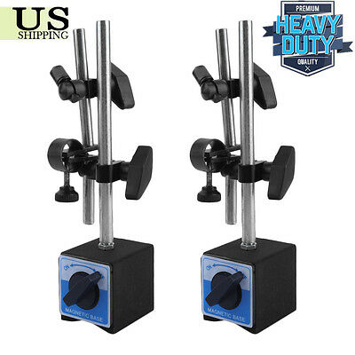 2X Universal 3D Deluxe MAGNETIC BASE Holder for Dial Test Indicator 132lbs MX