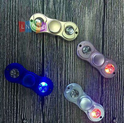 LED Light Up Hand Finger Spinner Torqbar Brass Fidget Toy EDC Focus Gyro Gift