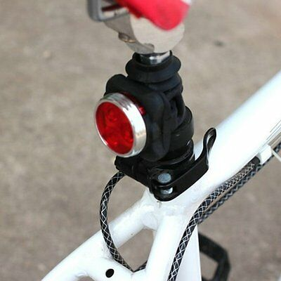 4 Mods USB Rechargeable 3 LED Head Front Rear Tail Clip Light Lamp Bike Bicycle