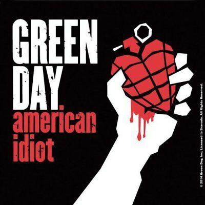 Green Day American Idiot Single Coaster Cork Drinks Band  Official Merchandise