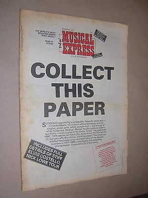 NEW MUSICAL EXPRESS. NME. SEPTEMBER 3rd 1977. MUSIC MAGAZINE. THE CLASH ETC.