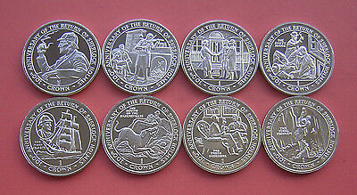Gibraltar 1994 100th Annv. of The Return of Sherlock Holmes Crown 8 Coins Set