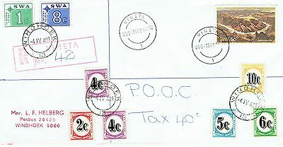 South West Africa 1981 local cover with postage dues