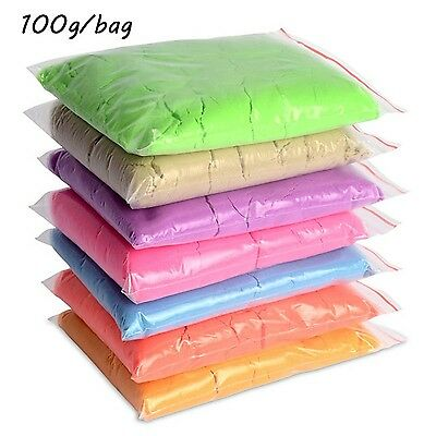 100g/bag  Dynamic Sand Kinetic Clay Amazing Indoor Magic Play Sand Color Clay