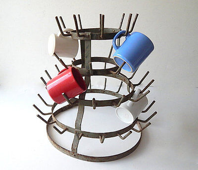 French Vintage Wine Bottle Drying Rack in French a ' Herrison '