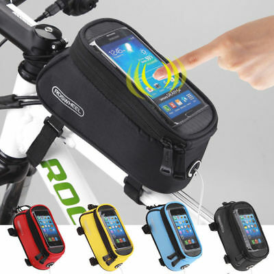 "5.5"" Roswheel BIKE BICYCLE FRAME HOLDER PANNIER MOBILE PHONE CASE BAG POUCH"