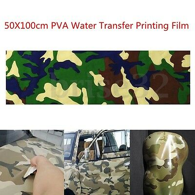 Camouflage PVA Hydrographic Water Transfer Hydro Dipping DIP Fiber Print Film