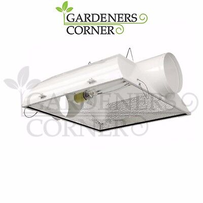 "Hydroponics  3XL 8"" Inch Air Cooled Indoor Cool Shade Grow Light Reflector UK"