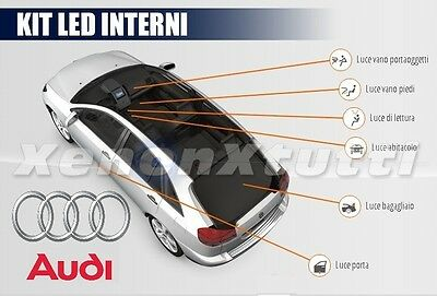 Kit Led Interni Audi A3 8P Completo + Luci Targa Led No Error Canbus
