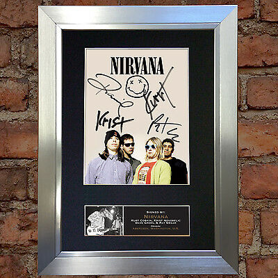 NIRVANA Signed Autograph Mounted Photo Repro A4 Print 655