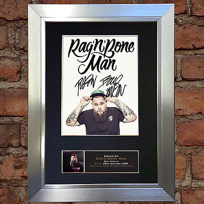 RAG N BONE MAN Signed Autograph Mounted Photo Repro A4 Print 656